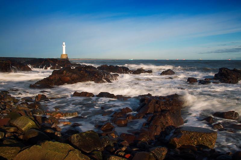 Girdleness Lighthouse. Aberdeen. Scotland.