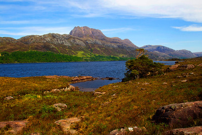 Slioch  Mountain at Loch Maree.