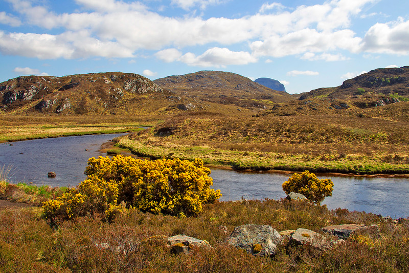 Sutherland with the Mountain of Suilven in the back Ground.