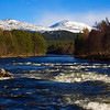 The River Dee at Invercauld, Aberdeenshire. Scotland.