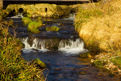 Mini waterfalls near Auchenblae. Scotland.