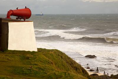 Stormy Seas at Aberdeen Scotland.