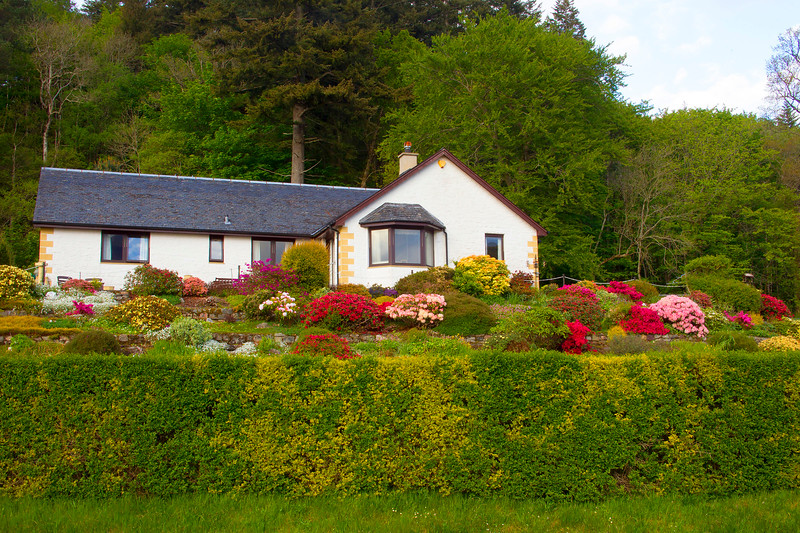 A Cottage at Glencoe Village. Scotland.