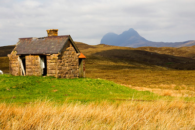 Old Ruins, with Suilven Mountain Behind.