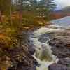 Waterfall at Braemar. Aberdeenshire.
