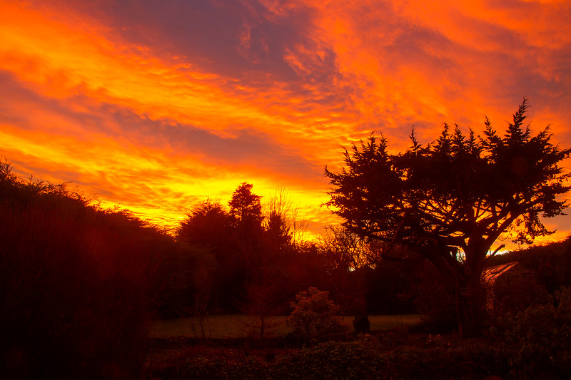 Beautiful Sunset in Aberdeen.