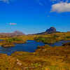 The Mountains of  Canisp and Suilven Scotland.