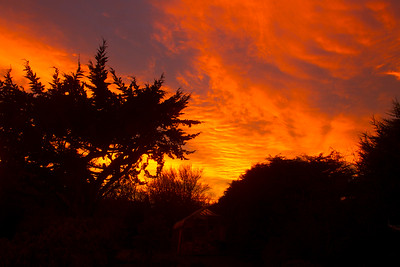Sunset over Aberdeen. Scotland.