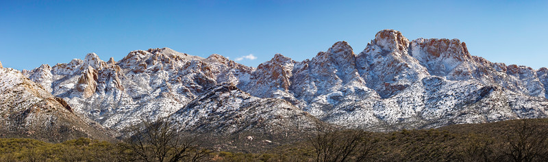 Pusch Ridge with fresh snow