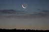 Waning moon at dawn, from Gallo Wash - Chaco Culture National Historical Park