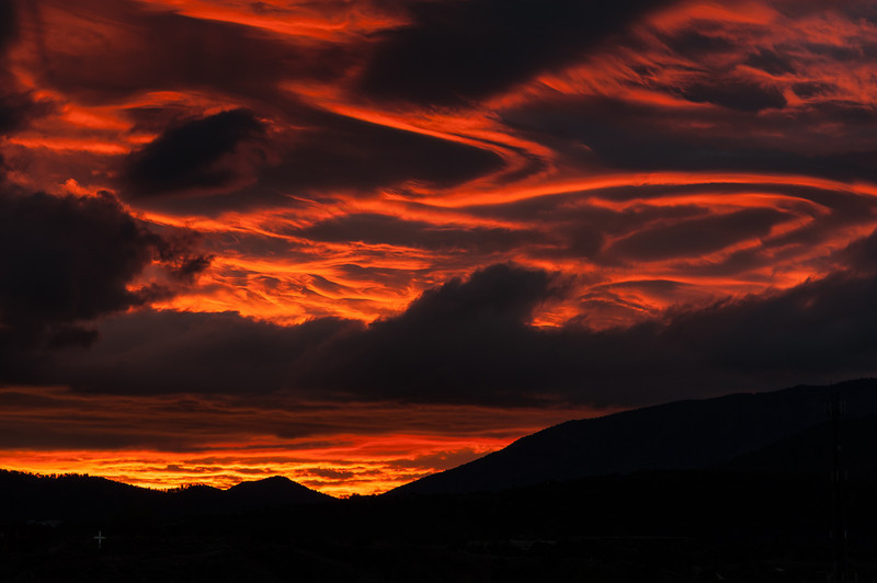 Fiery Sunrise, Santa Fe