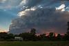 Peaceful Farm; Angry Sky