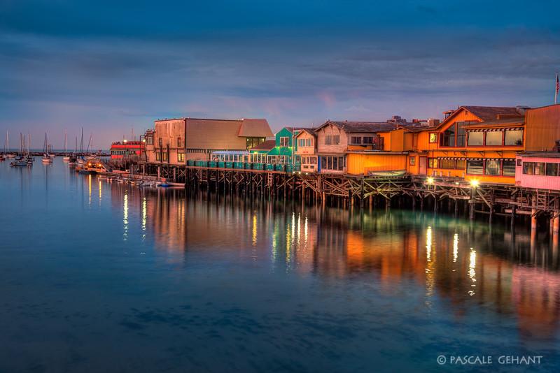 Old Fisherman's wharf at dusk