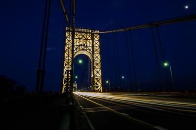 George Washington Bridge - Tower Lights - July 4, 2017