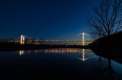 George Washington Bridge - Tower Lights - February 20, 2017