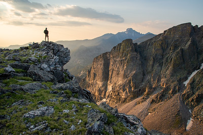 Morning light in the high country of Rocky Mountain National Park in Colorado.