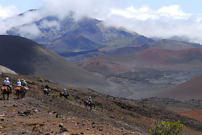 Descending into Haleakala