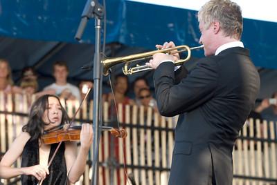 Lucia Micarelli and Chris Botti - 2010 Newport Jazz Fest
