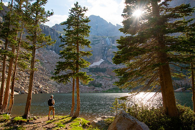 McHenry Peak towers above Black Lake in Rocky Mountain National Park in Colorado.
