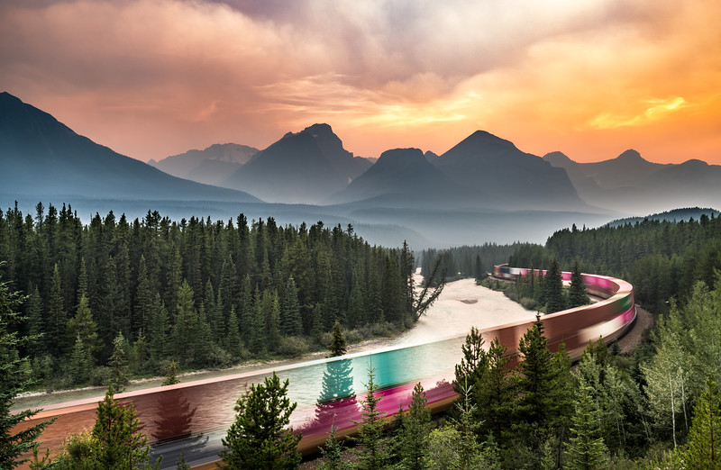 Morant's Curve   Lake Louise, AB, Canada