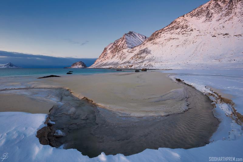 Cold dawn at Haukland