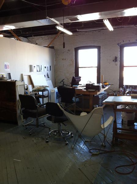 A studio in the Gowanus art district