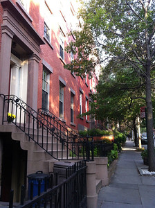 The historic Brownstone district in Brooklyn Heights