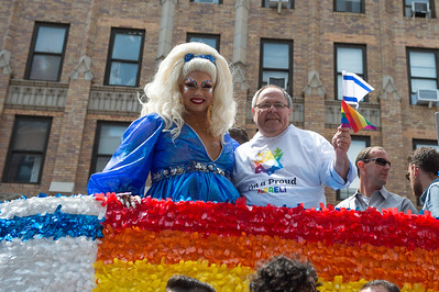 The Israeli Consulate Delegation marches during the Pride Parade in New York City