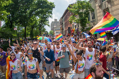 The Israeli Consulate Delegation marches during the annual Pride Parade in New York City.