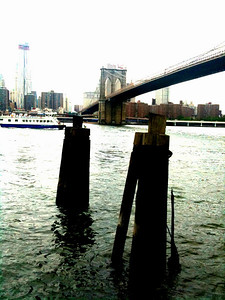 The Brooklyn Bridge and the Brooklyn Harbour