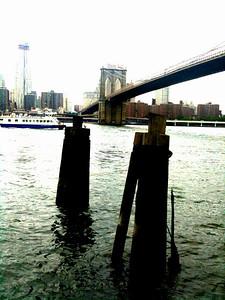 The Brooklyn Bridge and the Brooklyn Harbour