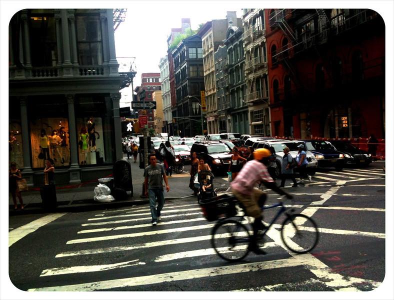 City Scene at Broadway in Manhattan