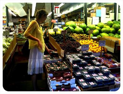 Melissa shops for fresh veggies