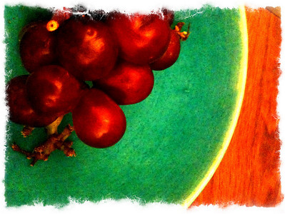 Grapes as art from my iPhone!