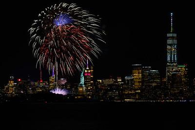 Ellis Island Fireworks - June 27, 2017