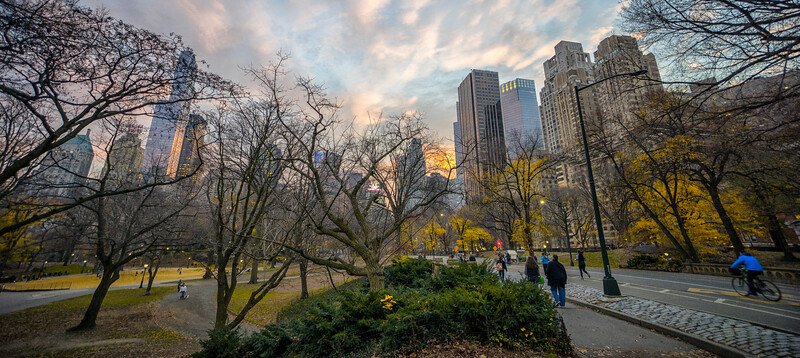 Central Park West at Dusk, NYC