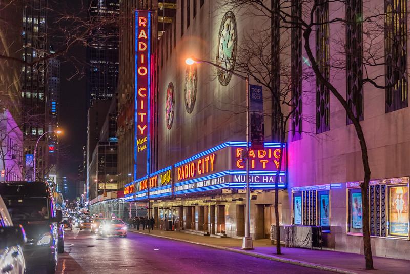 Radio City at Night