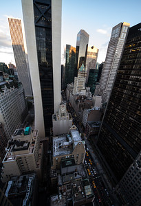 Looking Down Between 57th Street and 58th Street, Manhattan