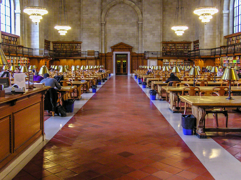 Inside the New York City Public Library