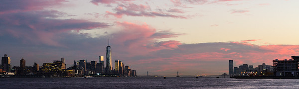 Between Manhattan and Jersey City