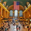 The American Flag Hangs at Grand Central Station