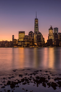 Downtown New York City Skyline-Portrait