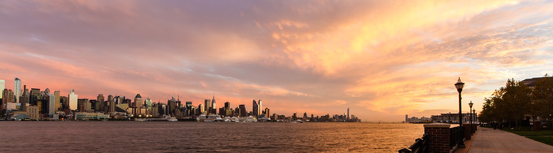 NYC at Sunset from Guttenberg, NJ