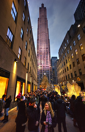 Rockefeller Center during Christmas, NYC