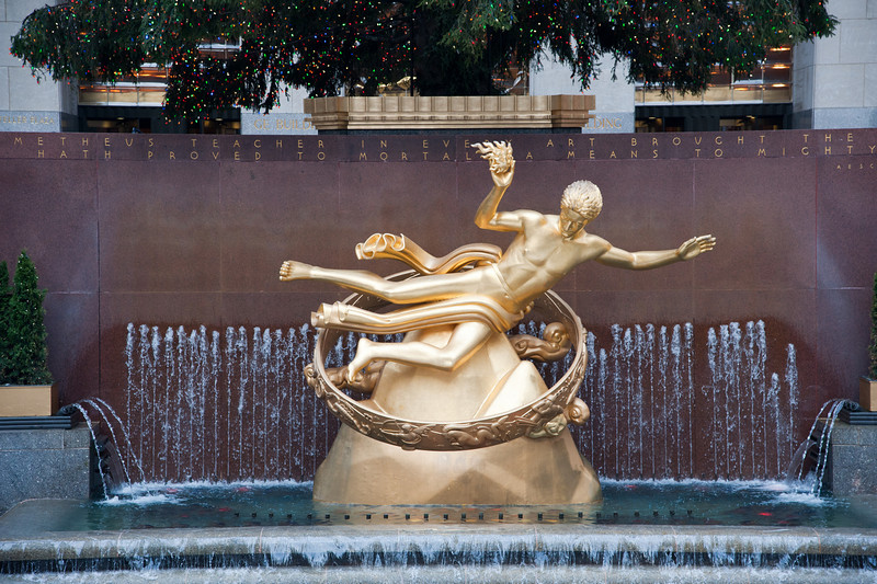 Prometheus Statue at Rockefeller Center - Paul Manship - 1934