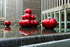 Giant Christmas ornaments - 1251 Sixth Avenue (Exxon Building)