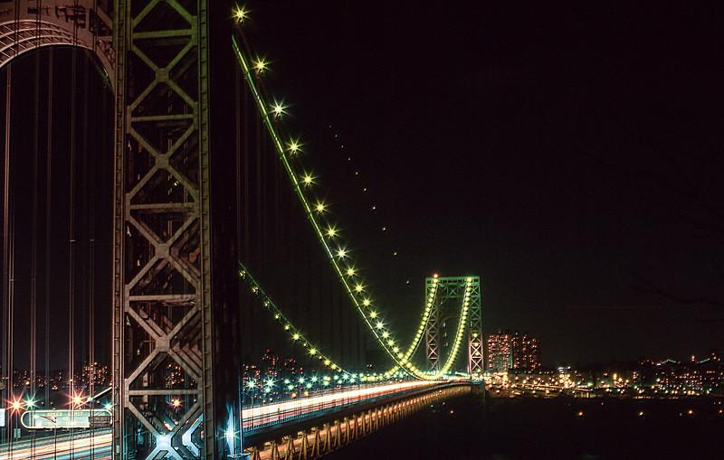 George Washington Bridge at night - 1982