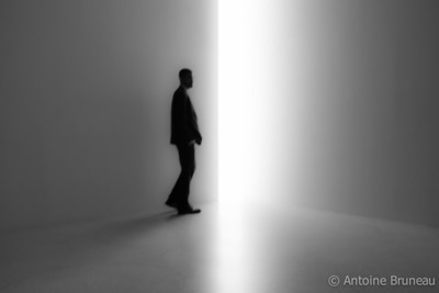 Feeling like passing on to the Other Side during the James Turrell exhibition at the Guggenheim Museum.