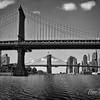 Manhattan Bridge with the Brooklyn Bridge