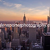 New York Sunset - taken from the top of the Rockefeller building.